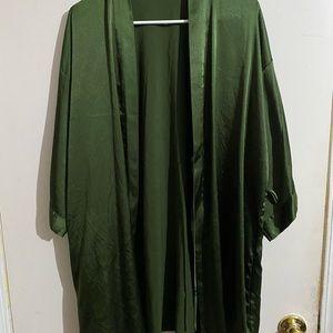 Victoria's Secret Satin Green Robe / Kimono